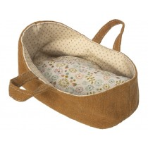 Maileg Carry Cot for Micro brown