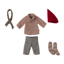 Maileg CHRISTMAS CLOTHES for Medium Mouse Boy