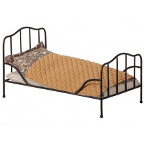 Maileg VINTAGE BED with Bedding Mini anthracite