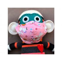Hickups Fabric Mask KIDS Unicorn pink