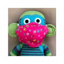 Hickups Fabric Mask KIDS Paws pink