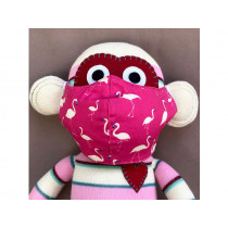 Hickups Fabric Mask KIDS Flamingo pink