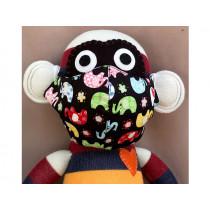 Hickups Fabric Mask KIDS Elephant black