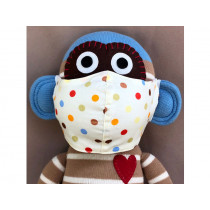 Hickups Fabric Mask KIDS Dots white