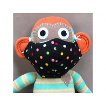 Hickups Fabric Mask KIDS Dots black