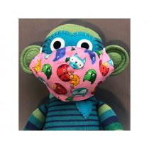 Hickups Fabric Mask KIDS Cat pink