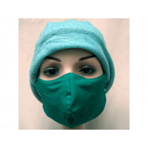 Hickups Fabric Mask ADULTS FEMALE green