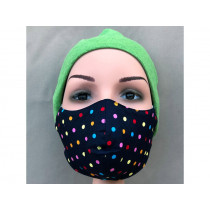 Hickups Fabric Mask ADULTS FEMALE Dots blue