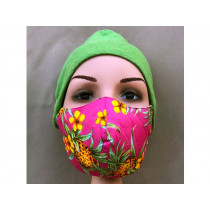 Hickups Fabric Mask ADULTS FEMALE Pineapple pink
