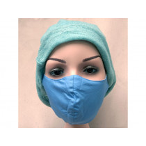 Hickups Fabric Mask ADULTS FEMALE cobalt blue