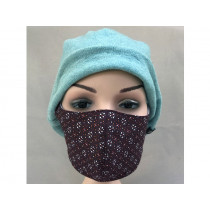 Hickups Fabric Mask ADULTS FEMALE Flowers brown