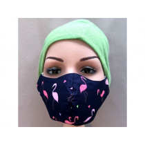 Hickups Fabric Mask ADULTS FEMALE Flamingo blue