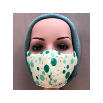 Hickups Fabric Mask TEENS Dots creme/green
