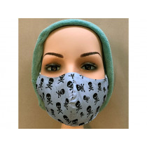 Hickups Fabric Mask TEENS Pirat grey