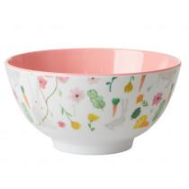 RICE Melamine Bowl EASTER white