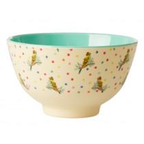 RICE Small Melamine Bowl BUDGIE