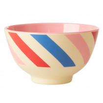 RICE Small Melamine Bowl CANDY STRIPES