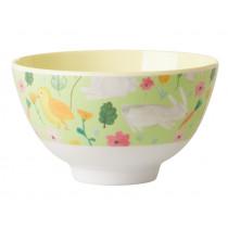 RICE Small Melamine Bowl EASTER green