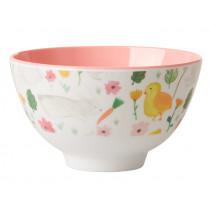 RICE Small Melamine Bowl EASTER white