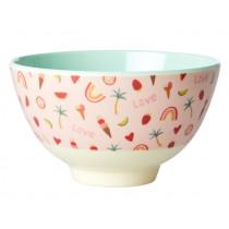 RICE Small Melamine Bowl YOU GO GIRL