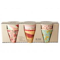 RICE 6 Small Melamine Cups GOLDFISH