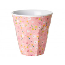 RICE Melamine Cup EASTER FLOWERS pink