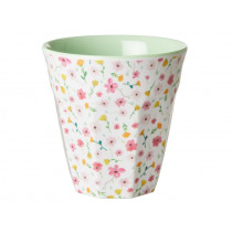 RICE Melamine Cup EASTER FLOWERS white