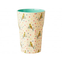 RICE Tall Melamine Cup BUDGIE
