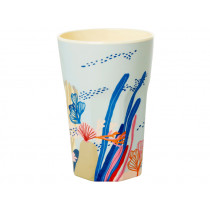 RICE Tall Melamine Cup CORAL