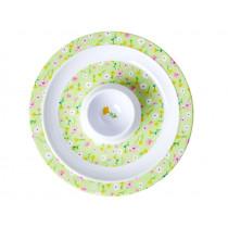 RICE Egg Cup SPRING FLOWER green