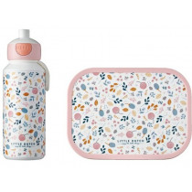 Mepal Lunch box set with water bottle Little Dutch - SPRING FLOWERS