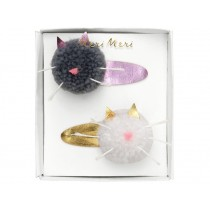 Meri Meri Hair Clips CAT POMPOMS