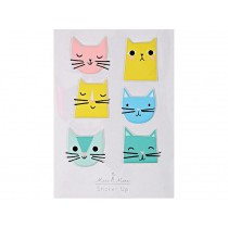 Meri Meri 9 Puffy Stickers CATS