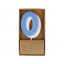 Meri Meri Birthday Candle 0 blue