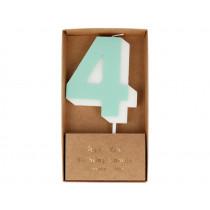 Meri Meri Birthday Candle 4 mint