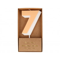 Meri Meri Birthday Candle 7 apricot