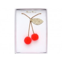 Meri Meri Necklace CHERRY POMPOM