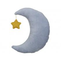 Meri Meri Velvet Cushion Moon blue with golden star