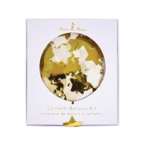 Meri Meri Confetti Balloon Kit Stars gold