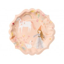 Meri Meri 8 Large Plates MAGICAL PRINCESS