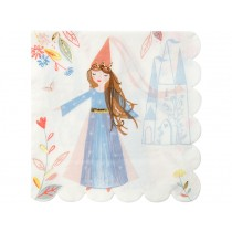 Meri Meri 16 Large Napkins MAGICAL PRINCESS
