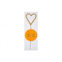 Meri Meri Mini SPARKLER HEART gold