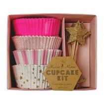 Meri Meri Cupcake Kit Toot Sweet pink