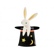 Meri Meri 8 Bunny in a Hat Party Plates MAGIC