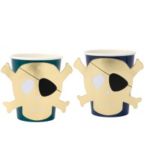 Meri Meri 8 Party Cups PIRATE