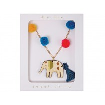 Meri Meri Pompom Necklace ELEPHANT