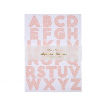 Meri Meri 260 Glitter Stickers ALPHABET pink