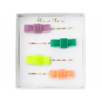 Meri Meri 4 Hair Slides VELVET BOW
