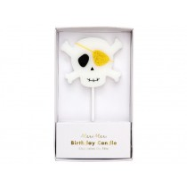 Meri Meri Large Candle PIRATE SKULL