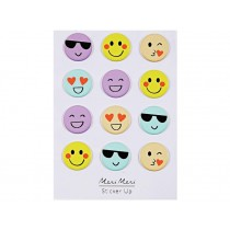 Meri Meri 12 Puffy Stickers EMOJI